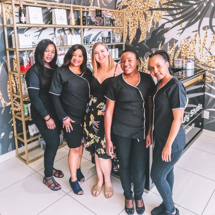WIth some of The Beauty Studio team