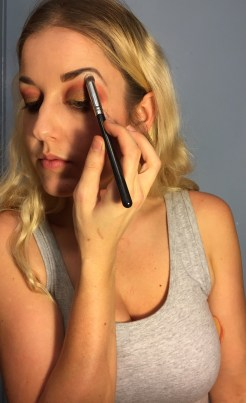 Apply right under brow following that brow bone.