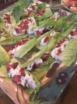 thanksgiving - crab bacon lettuce