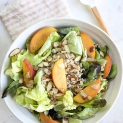 Organic Girl Recipe: Peach and Barley Salad