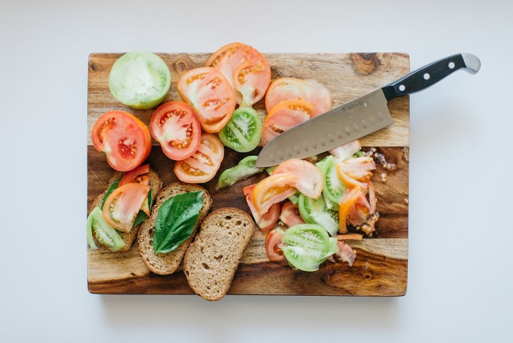 Whole Wheat Tomato Peach Toast