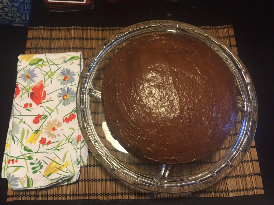 Vegan Chocolate Almond Cake 1