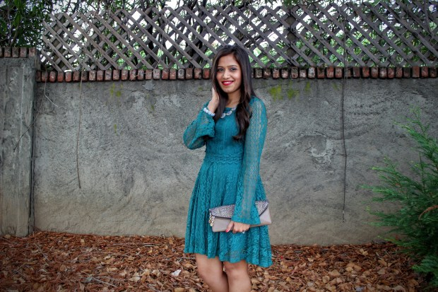 Green Lace Dress 1