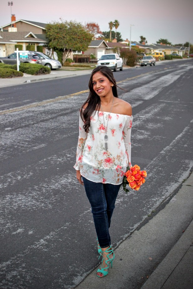 Floral Bell Sleeved Top 7