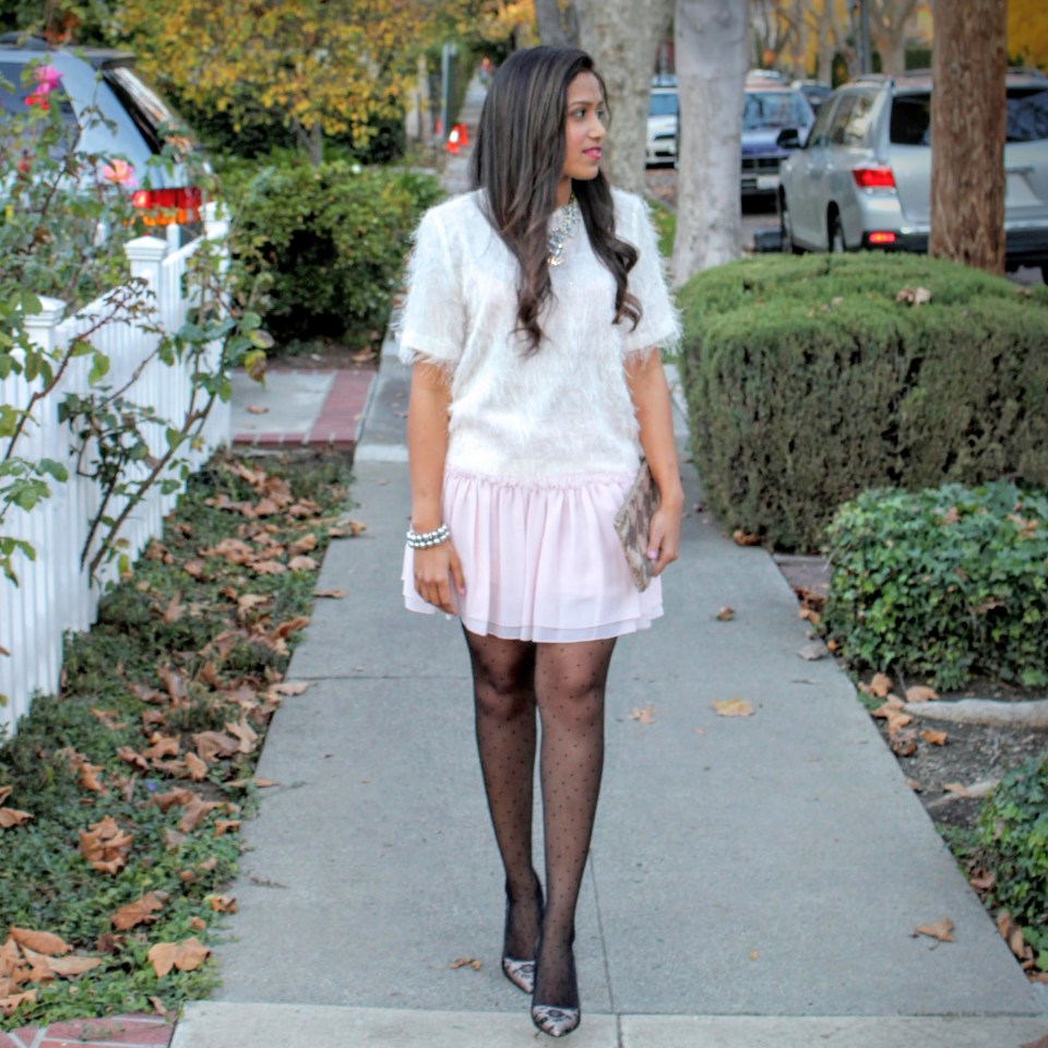 Pink Skirt Holiday Outfit 4