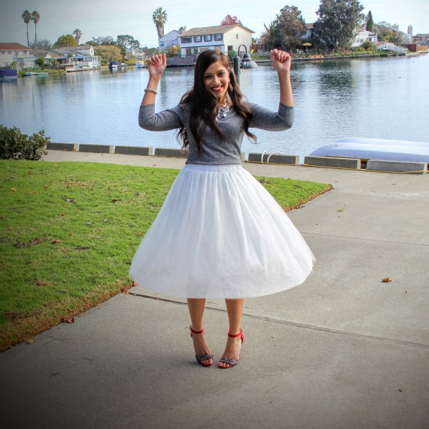 White Tulle Skirt 15