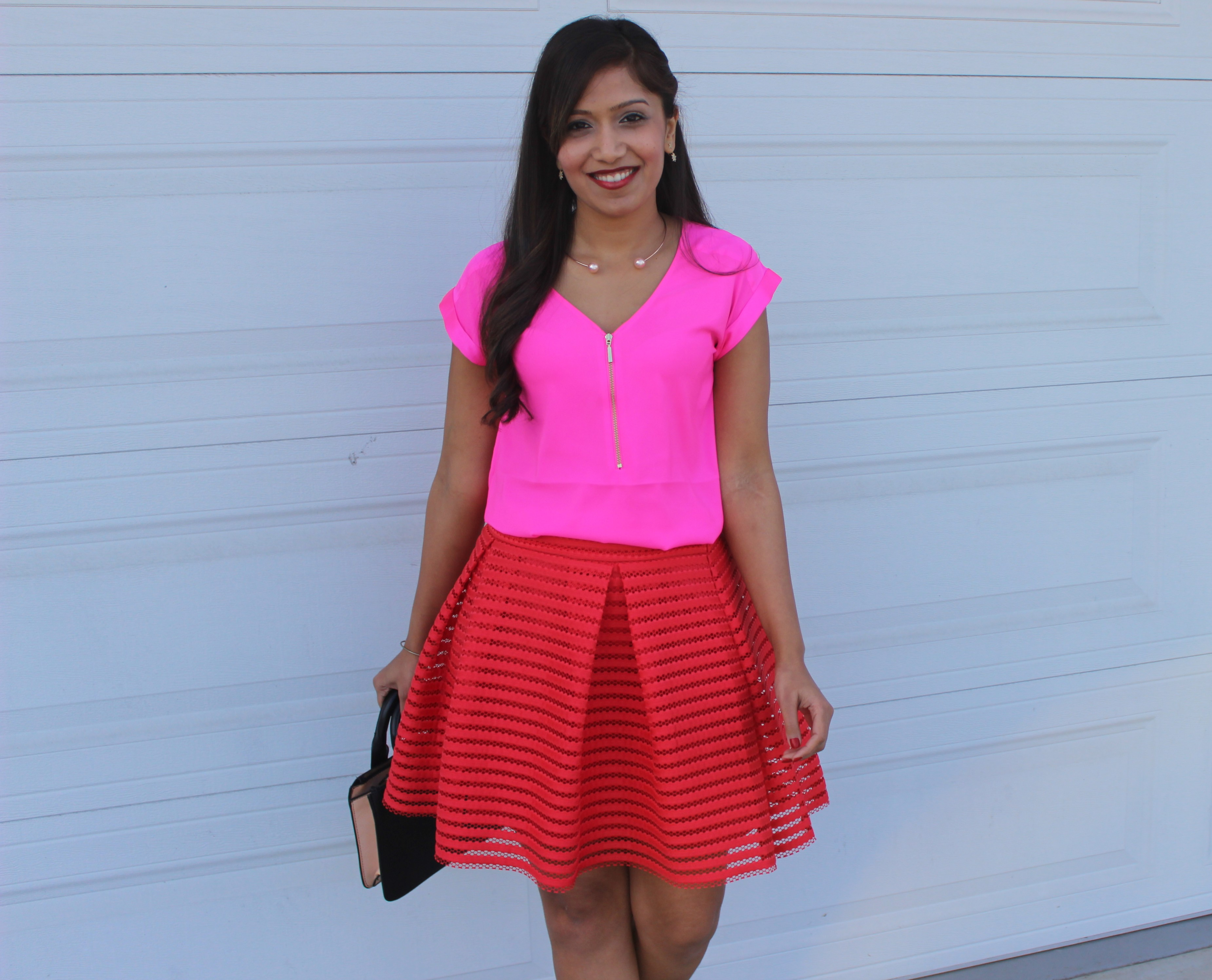 Valentines Day Outfit - Peaches With Pearls