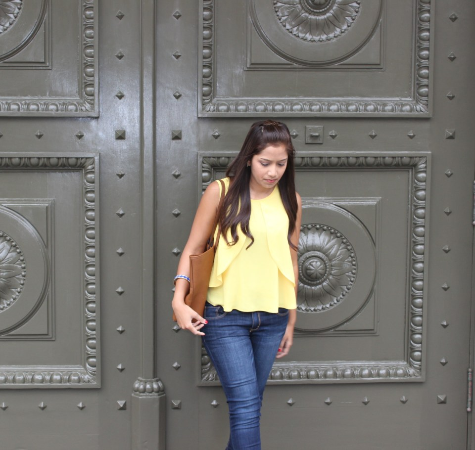 Yellow Top Blue Jeans 3