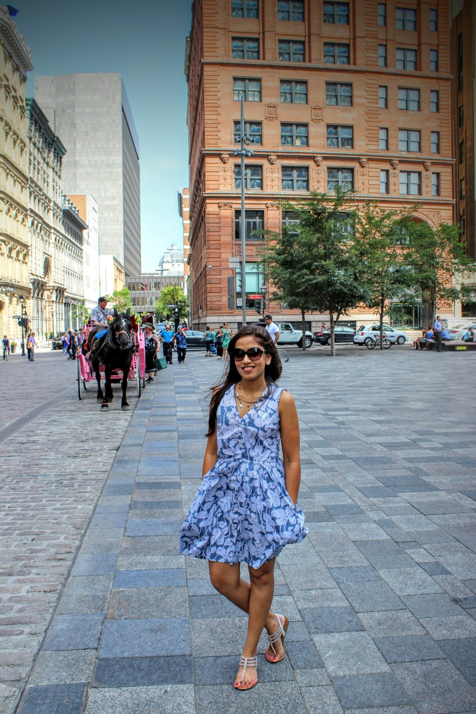 Flowy Blue Gap Shirtdress 5