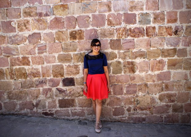 Red Skirt Blue Top 13