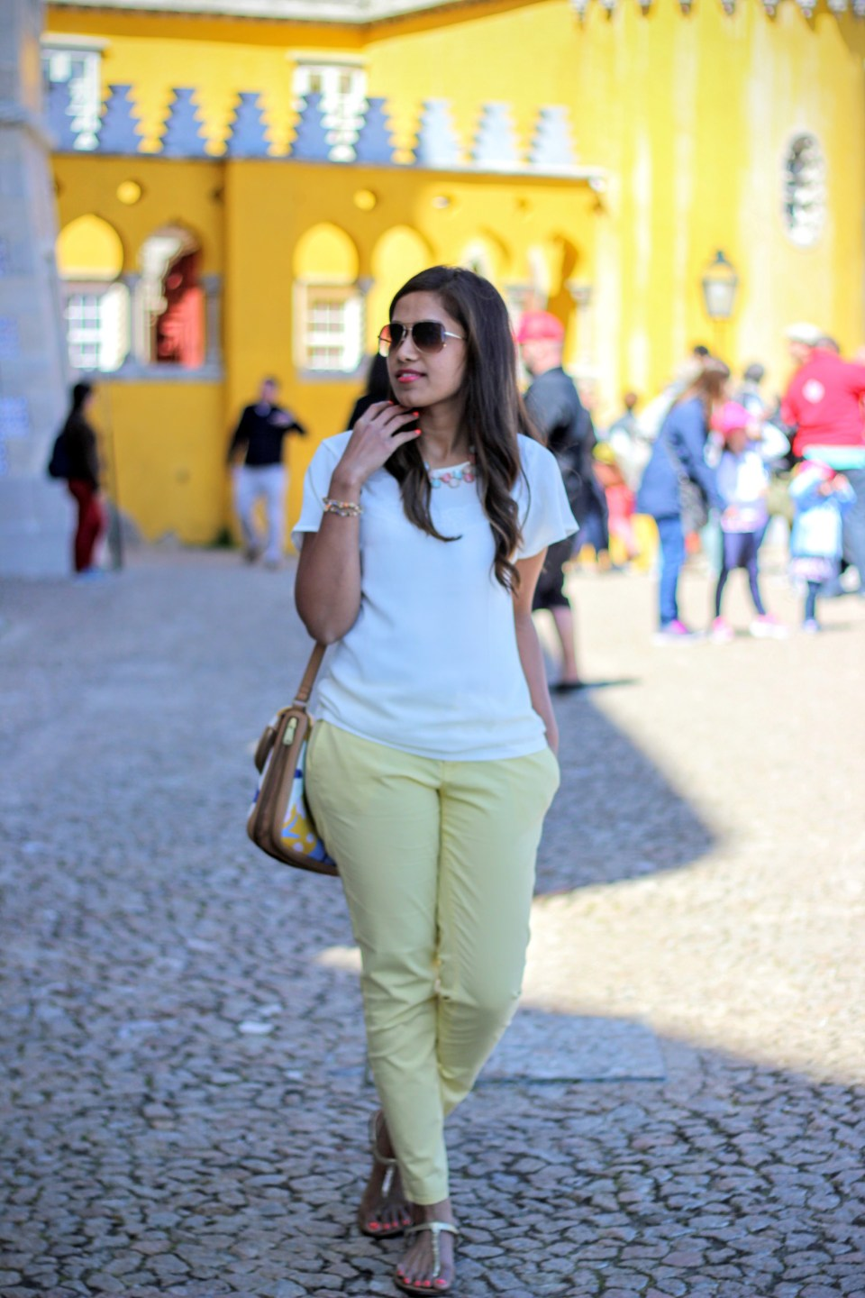 Yellow Pants White Top 12