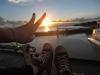 Sonnenuntergang auf dem Schiff 6