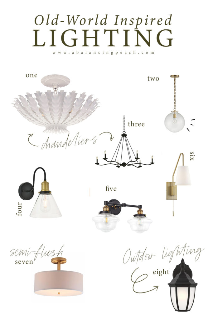 Old World Style Lighting Inspiration