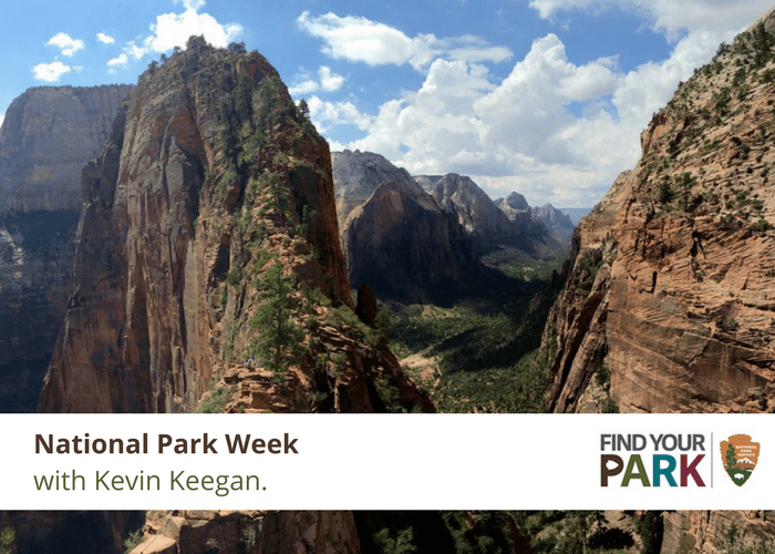 National Park Week Kevin Keegan Mt. Zion National Park