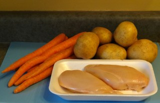 Organic chicken breast, carrots, potatoes