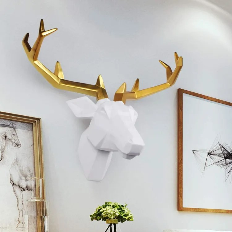 Deer Head Wall Decor   Peachy Shop