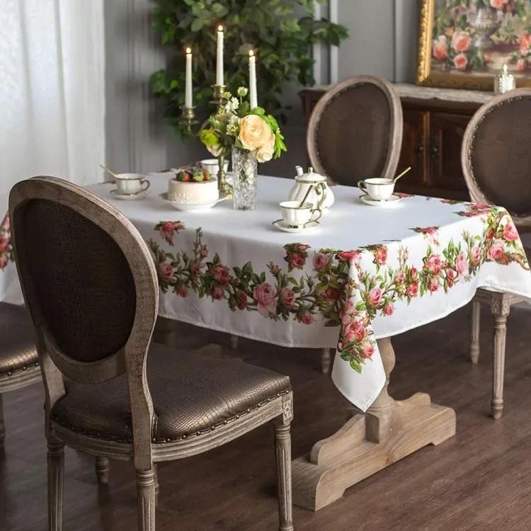 Rectangle Floral Tablecloth | Peachy Shop