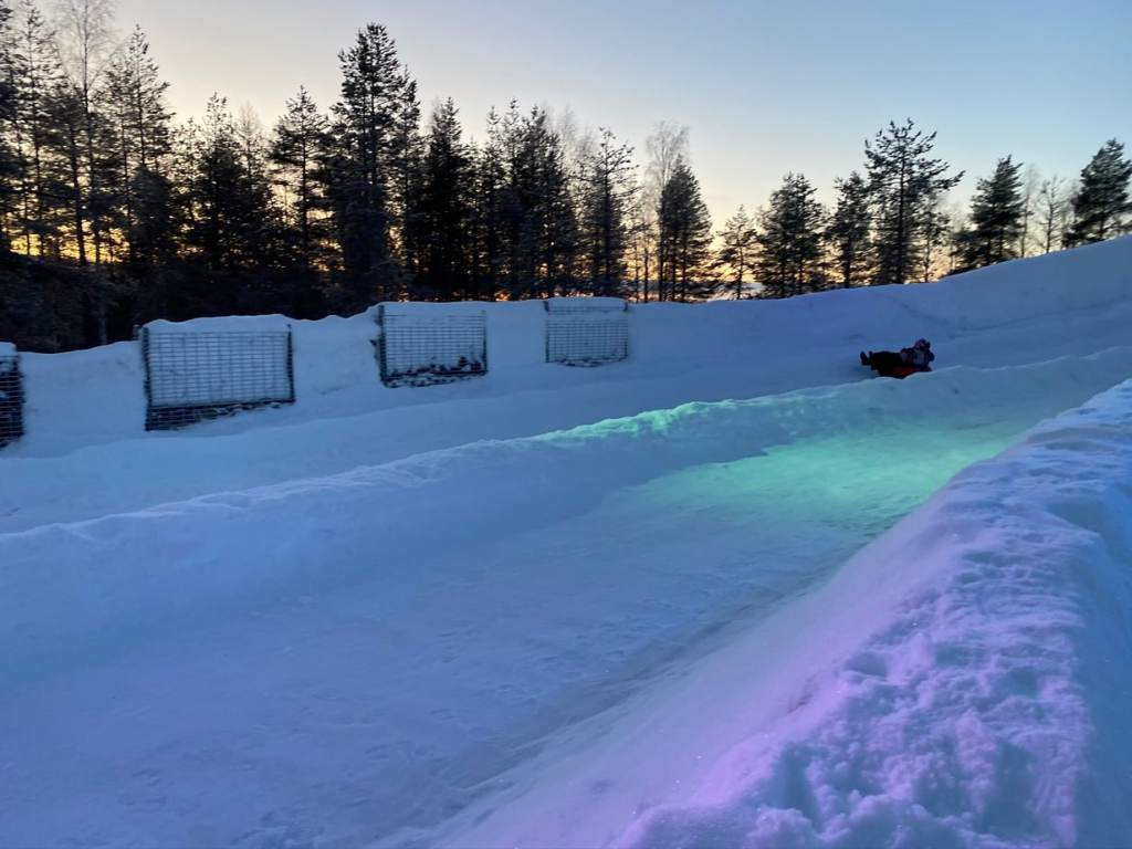 Tubing at Snowman World in Santa Claus Village Finland