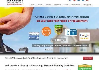 Roofers Website Design