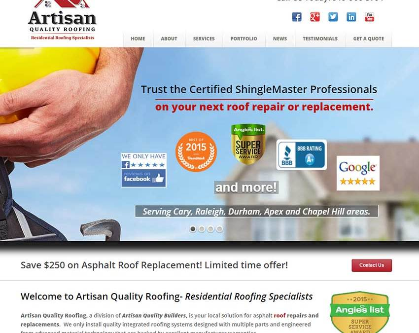 Roofers Website Design