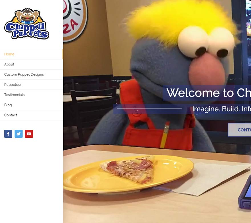 Chappell Puppets Website Design