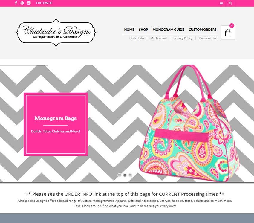 Chickadees eCommerce Website Design