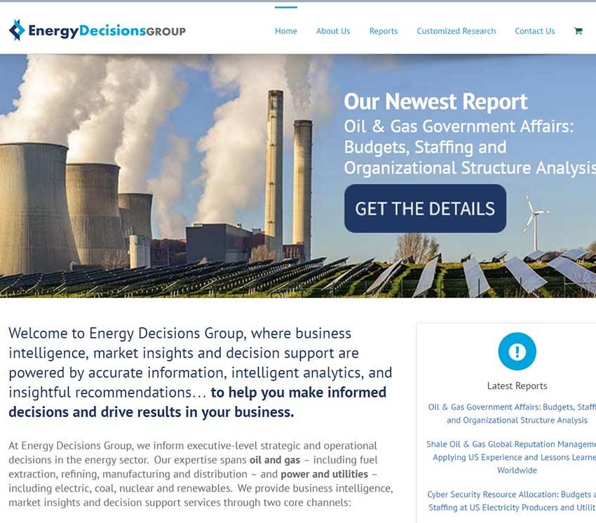 energy decision group website design