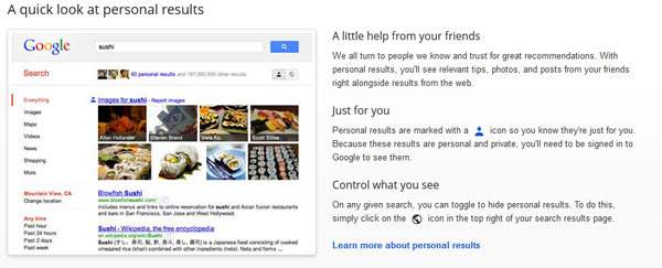 search plus your world marketing from Google