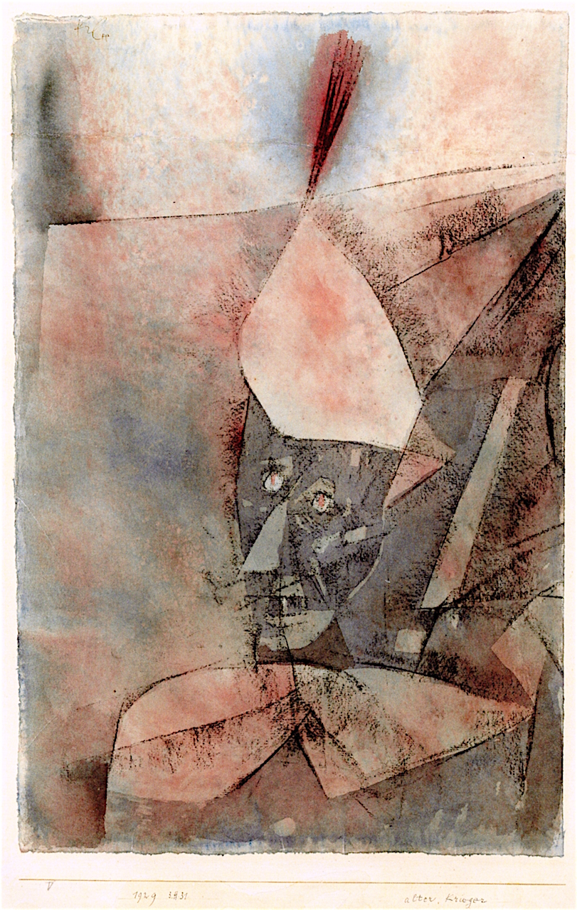 Paul Klee, Ancient Warrior, 1929, watercolor and charcoal on paper on card