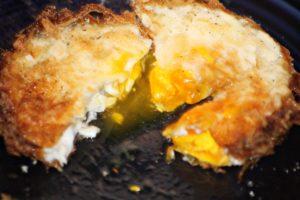 over easy deep fried egg