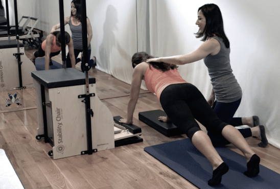 Peacock Pilates London - Chair Pilates and Reformer Pilates Studio W2 - Pilates Chair - Plank