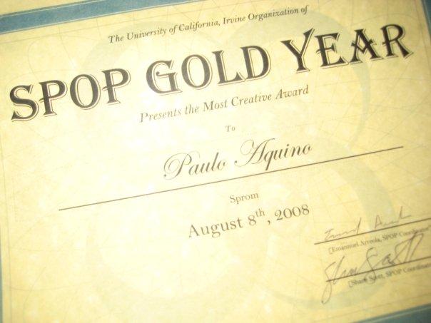Most Creative Award