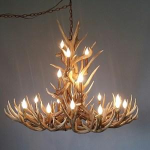 538 crestone peak mule deer antler chandelier lodge design