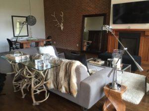730 elk and mule deer antler sofa table antler table