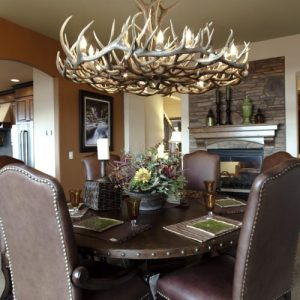 570-L mt elbert elk and mule deer antler chandelier