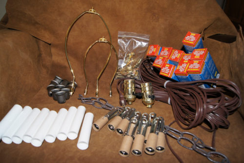 diy antler chandelier wiring kit u2022 the peak antler co rh peakantlers com Make Your Own Antler Lamp Rustic Ceiling Fan Light Kits