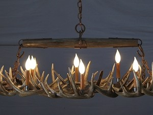 512-S white tail antler chandelier snowmass