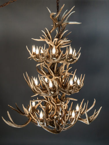 Wow your guests with a large whitetail deer antler chandelier the 532 l white tail antler chandelier 3 tier whitetail deer antler chandelier aloadofball Choice Image