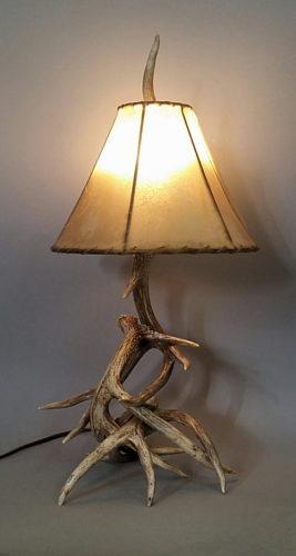 White Tail Deer Antler Lamp, Small