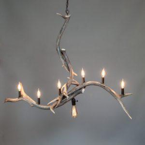mountain modern antler chandelier bridal veil falls elk antler