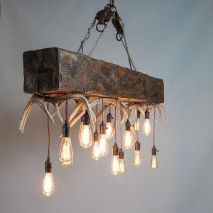 "mountain modern timber chandelier ""Timberline Falls"" antler chandelier"
