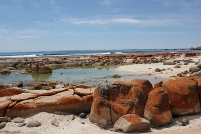 Granite Rocks - the colours are fantastic, the aqua blue sea, orange/red rocks and white, white sand.