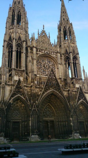 Notre Dame Of Rouen. The intricate architecture of this church is something to see, lots of attention to detail, arches, statues big small and really tiny.