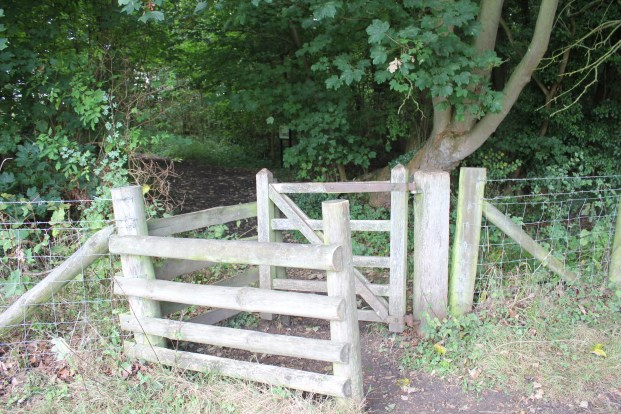 The kissing gate - an unsuspecting girl could be be trapped by her beau for a quick kiss