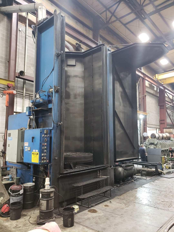High pressure vertical block washer