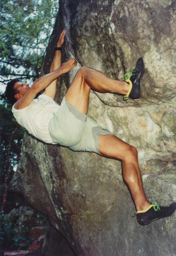 Fountainebleau bouldering
