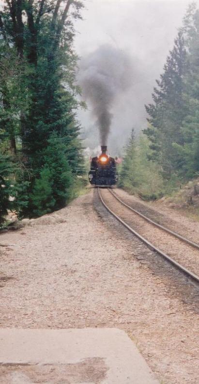 Finally, the train arrives