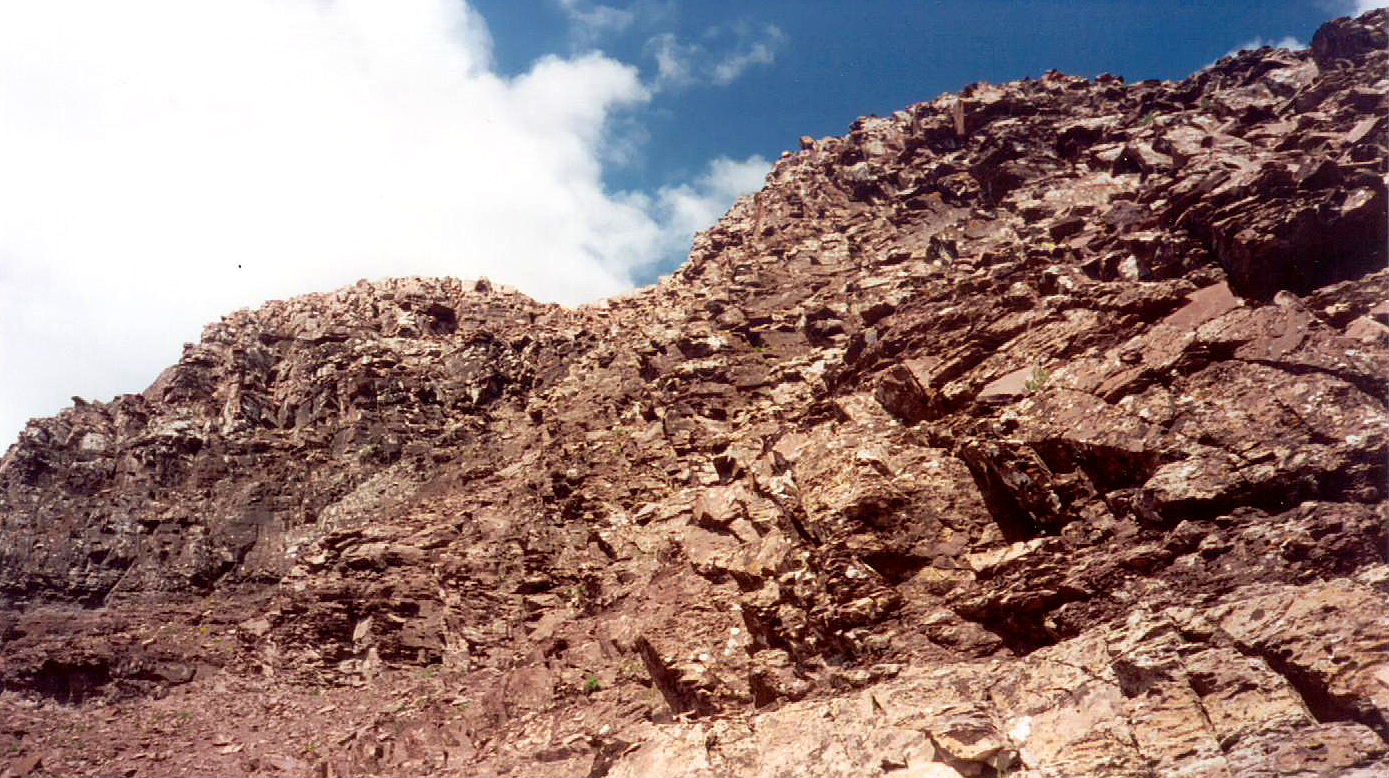Looking up at the East Face of Pyramid (The official name for a roughly pyramidal shaped pile of rubble near Aspen)