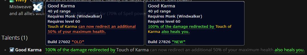 Windwalker PTR Build 27826: Putting the Good back in Good Karma
