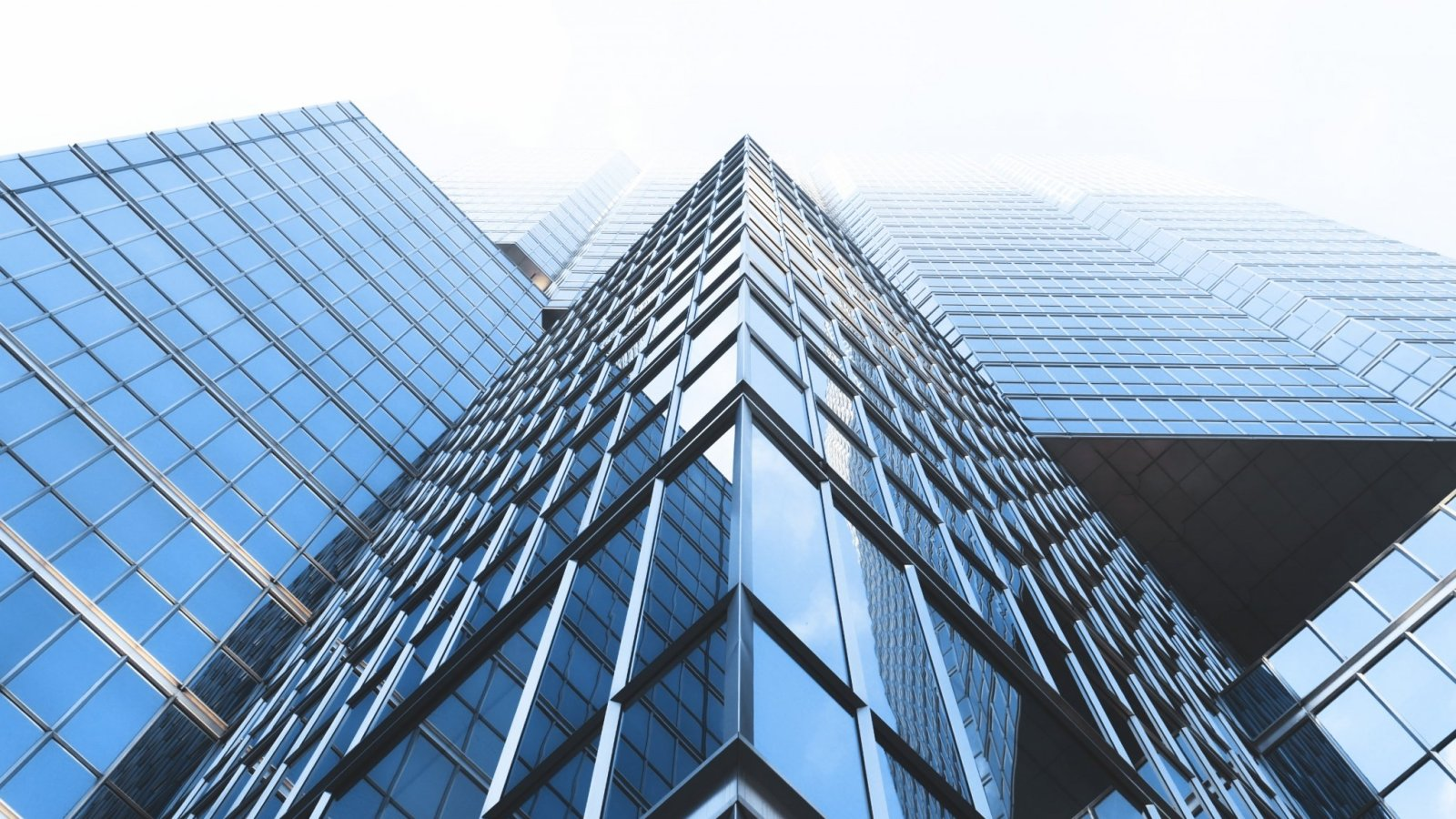 photo of skyscrapers; corporate law firm banner for Mai Law Pro Theme, a Wordpress law theme